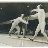Pentathlon Fencers Duranthon and Simonetti at the 1932 Olympics