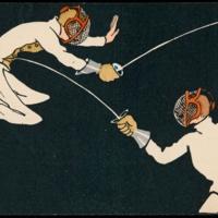 Belgian Fencing Postcard